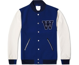 Wood Wood Giles Bomber Jacket Mood Indigo Mix