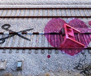 Railway artwork by Portuguese Artur Bordalo aka Bo