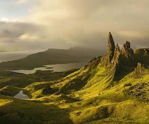 In fast motion through Scotland
