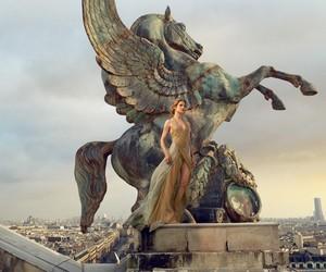 Natalia Vodianova & Benjamin M by Annie Leibovitz