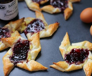 Boysenberry and Custard Danish