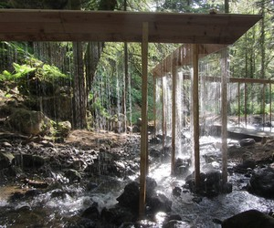 Amazing Water Curtain in the Woods of France