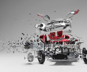 """Disintegrating"" – Exploded Famous Sports Cars"