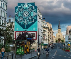 New Mandala Designed Mural by Shepard Fairey