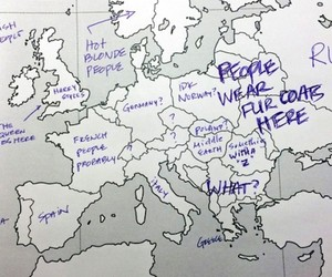 Americans label European Map and contrary