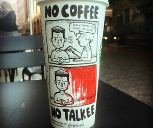 Cartoons Drawn on Coffee Cups by Josh Hara