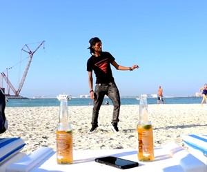 Turf-Dancing with M. Scott on a Beach in Dubai