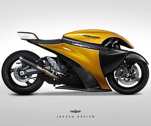 Tamás Jakus designs futuristic motorcycles