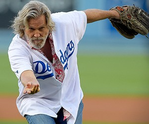 The Dude's First Pitch at Dodgers Stadium