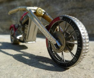 Motorbike Models Created Entirely From Watch Parts
