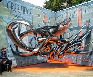 Anamorphic Graffiti Artworks by Artist Odeith