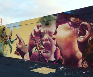 Mural by Streetart-Duo TELMO MIEL in Hawaii