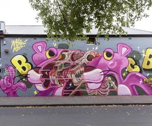Pink Panther by Street Artist Nychos