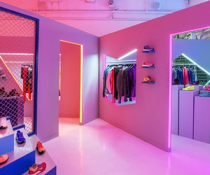 Nike's New Neon-Lit Pop-Up Shop NYC