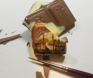 Paintings Made On Incredibly Surfaces Of Chocolate