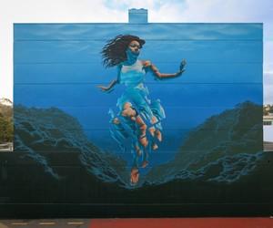 Mural by Street Artist James Bullough in Napier