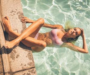 Sunny Pool Life with Model Katja Peterka