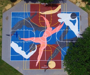 """Project Backboard"" - Basketball Courts as Canvas"