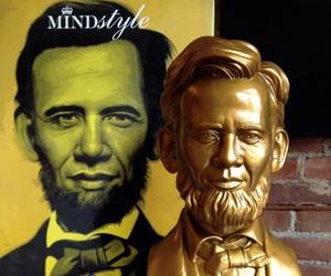 Ron English 'Abraham Obama' bust