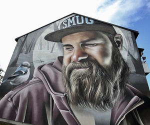 Awesome Mural by Artist Smug One in Sweden