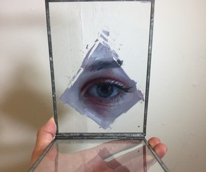 Surreal Oil Paintings of Eyes and Mouths on Glass