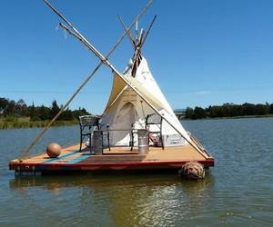 One of A Kind Floating Teepee House
