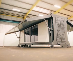 Mobile Housing: only 8 minutes for self-deploying