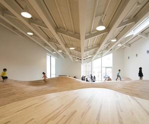 Undulating, Wood Flooring in Cildren's Playroom