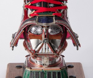 Upcycled STAR WARS Busts Made Of Tech Junk
