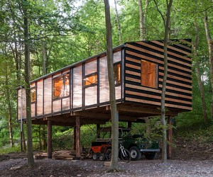 Beautifully Masculine Timber Workshop in the Woods