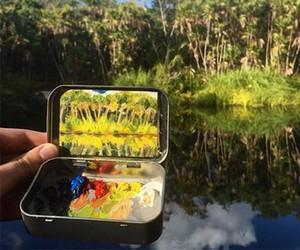 Heidi Annalise paints tiny landscapes