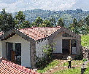 Rwanda Homes Crafted From Dirt Bricks