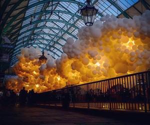 100k balloons inside covent garden london