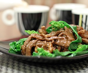 Beef and Chinese Broccoli