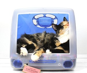 Repurposed iMac Computers Turned Pet Beds