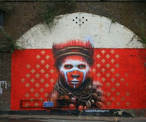 Streetart: New Mural by Dale Grimshaw in London