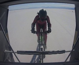 Denise Mueller is the fastest cyclist in the world