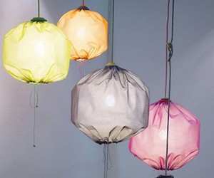 Fabric Lighting With a Drawstring