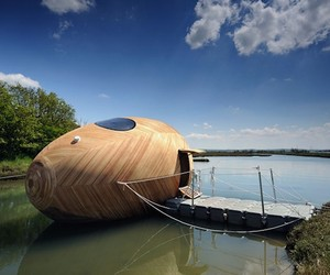 Egg Office Pod on the Water