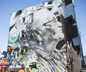 """Abuela""-Mural by Street Artist EL MAC in LA"