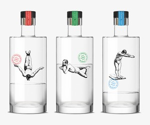 Creative Packaging Design: These men swimming in g