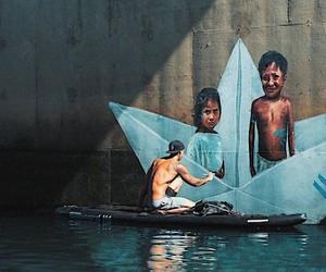 Paper Boats Mural make the world a bit better