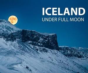 Iceland under Full Moon