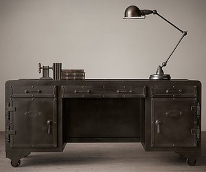 Iron Vault Desk, by Restoration Hardware
