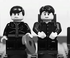 """Wonderwall"" by Oasis singing by LEGO male"