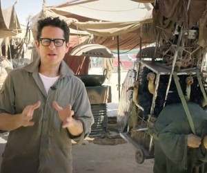J.J. Abrams from the set of Star Wars: Episode VII