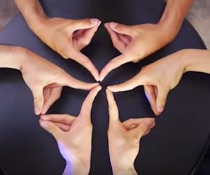 Handmade dance choreography: finger kaleidoscope