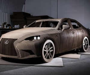 Lexus Origami Cardboard Car