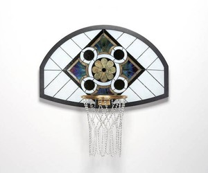 """Literally Balling"" Hand Made Stained Glass Basket"