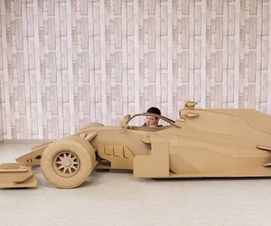 The Q is already tinkering with a racing car